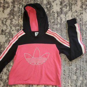 Adidas Originals Pink High Neck Crop Sweatshirt